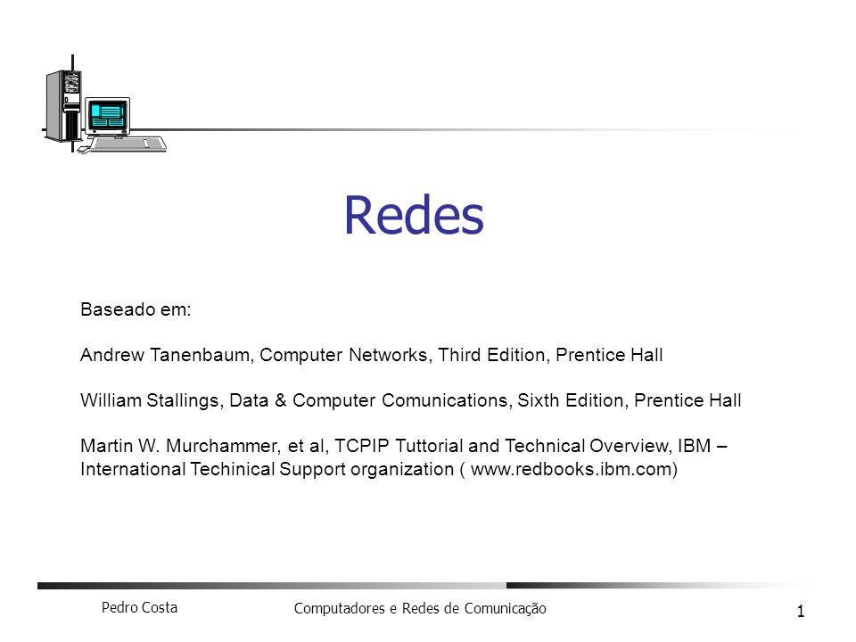 Redes Baseado em: Andrew Tanenbaum, Computer Networks, Third Edition, Prentice Hall.