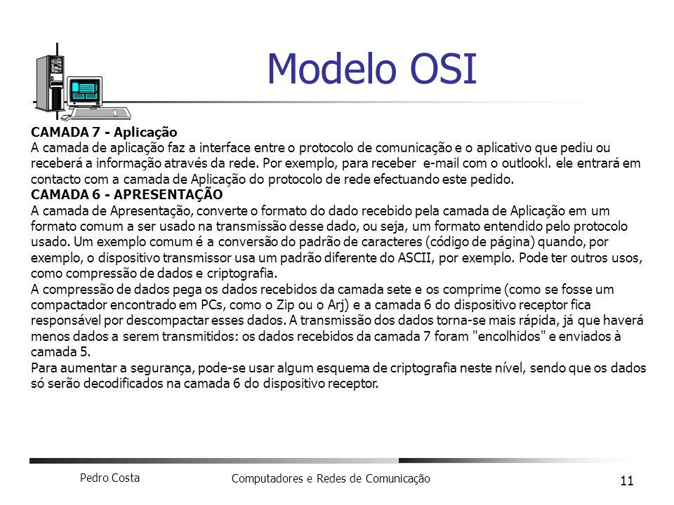 Modelo OSI CAMADA 7 - Aplicação