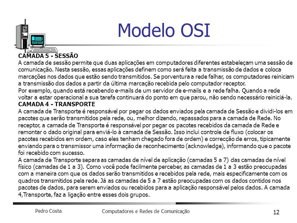 Modelo OSI CAMADA 5 - SESSÃO