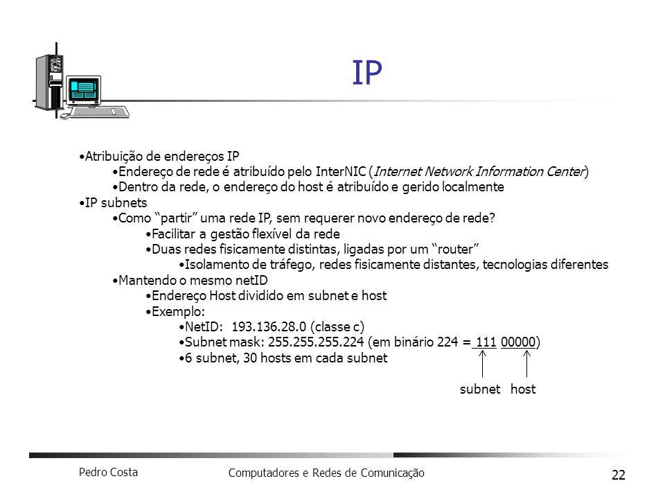 IP Atribuição de endereços IP