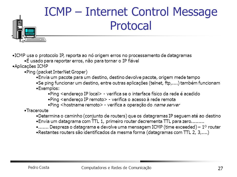 ICMP – Internet Control Message Protocal