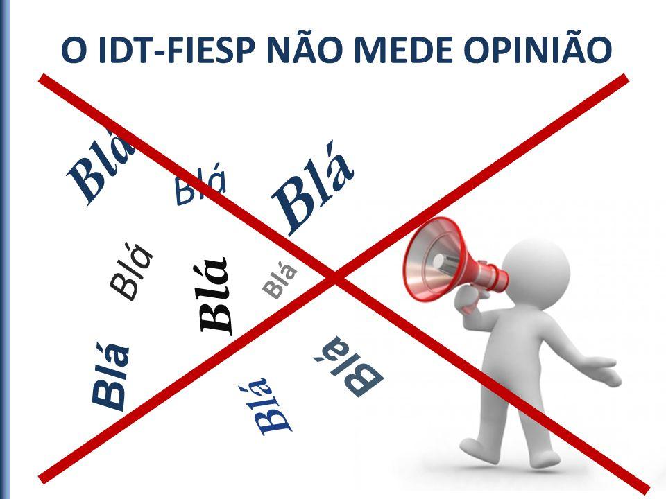 O IDT-FIESP NÃO MEDE OPINIÃO