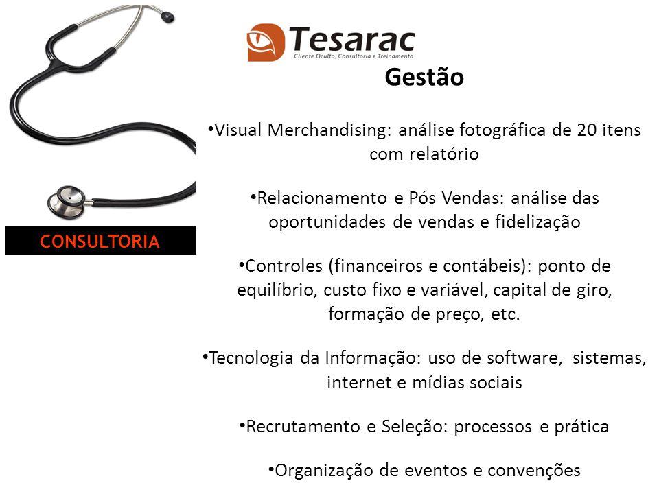 CONSULTORIA Gestão. Visual Merchandising: análise fotográfica de 20 itens com relatório.