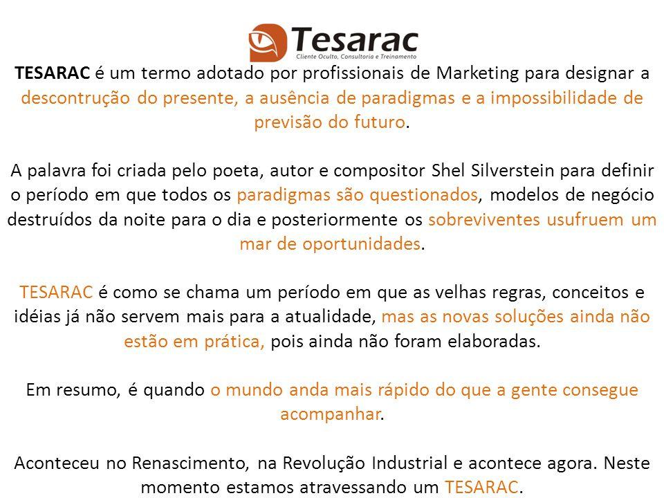 TESARAC é um termo adotado por profissionais de Marketing para designar a descontrução do presente, a ausência de paradigmas e a impossibilidade de previsão do futuro.