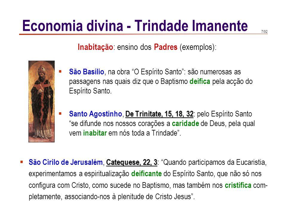 Economia divina - Trindade Imanente