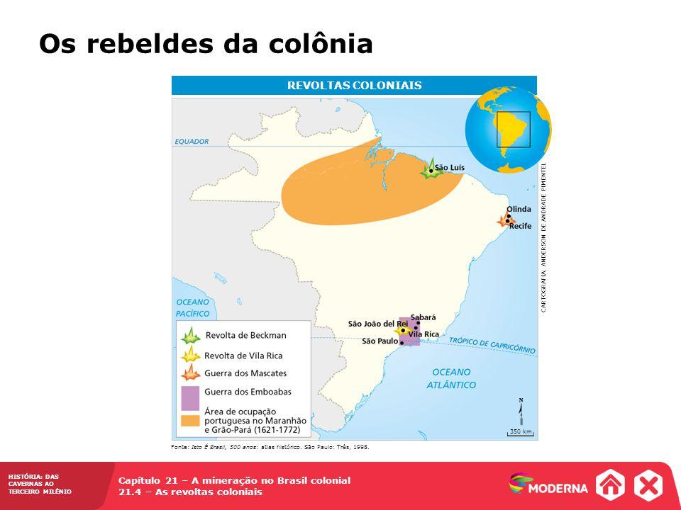 Os rebeldes da colônia REVOLTAS COLONIAIS