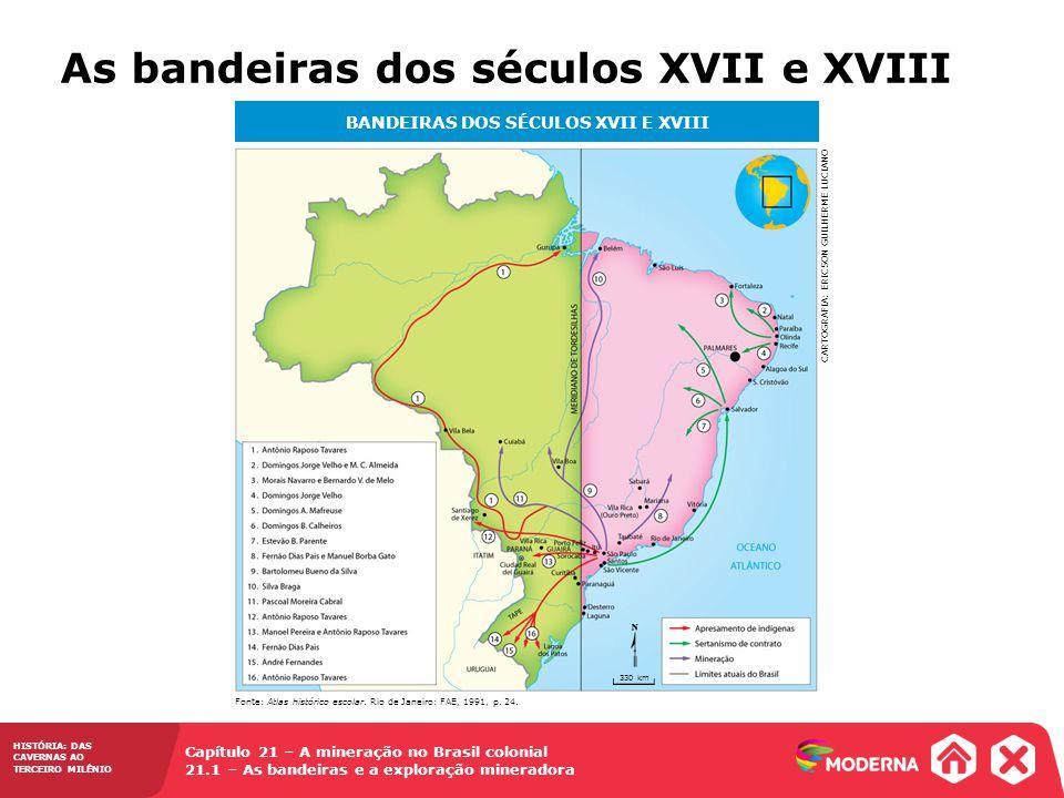 BANDEIRAS DOS SÉCULOS XVII E XVIII