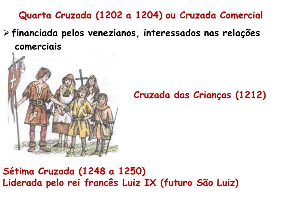 Quarta Cruzada (1202 a 1204) ou Cruzada Comercial