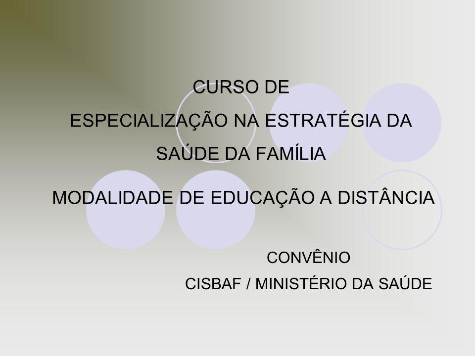 CONVÊNIO CISBAF / MINISTÉRIO DA SAÚDE
