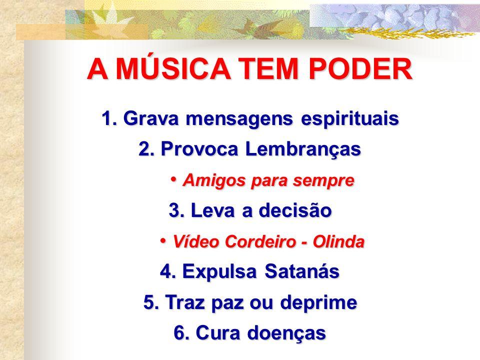1. Grava mensagens espirituais Vídeo Cordeiro - Olinda
