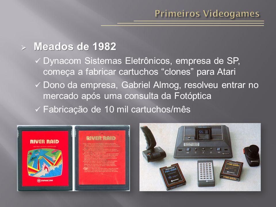 Meados de 1982 Primeiros Videogames