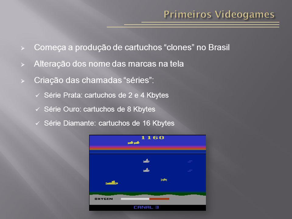 Primeiros Videogames Começa a produção de cartuchos clones no Brasil