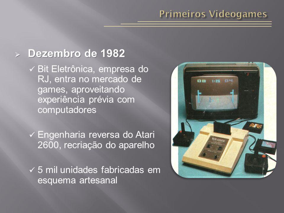 Dezembro de 1982 Primeiros Videogames