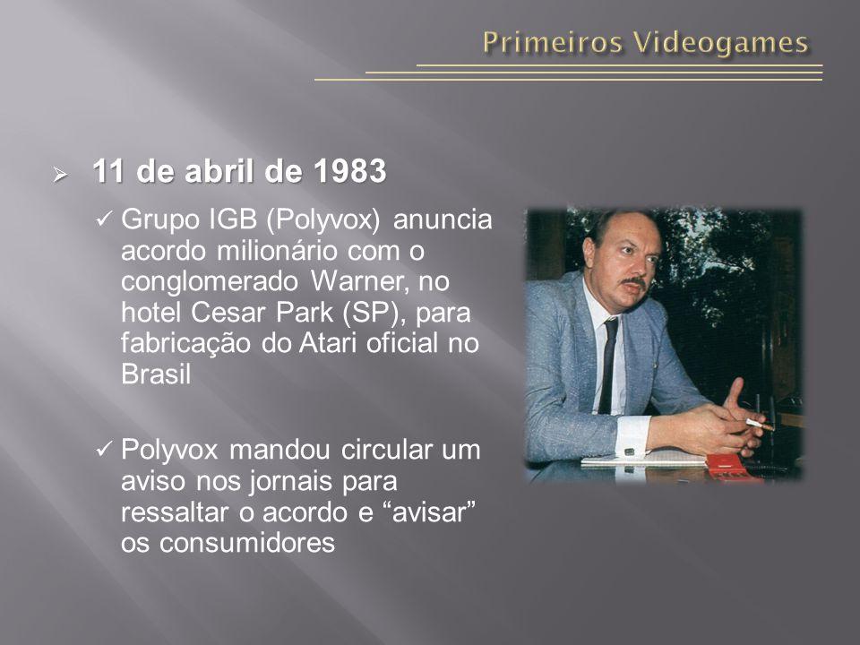 11 de abril de 1983 Primeiros Videogames
