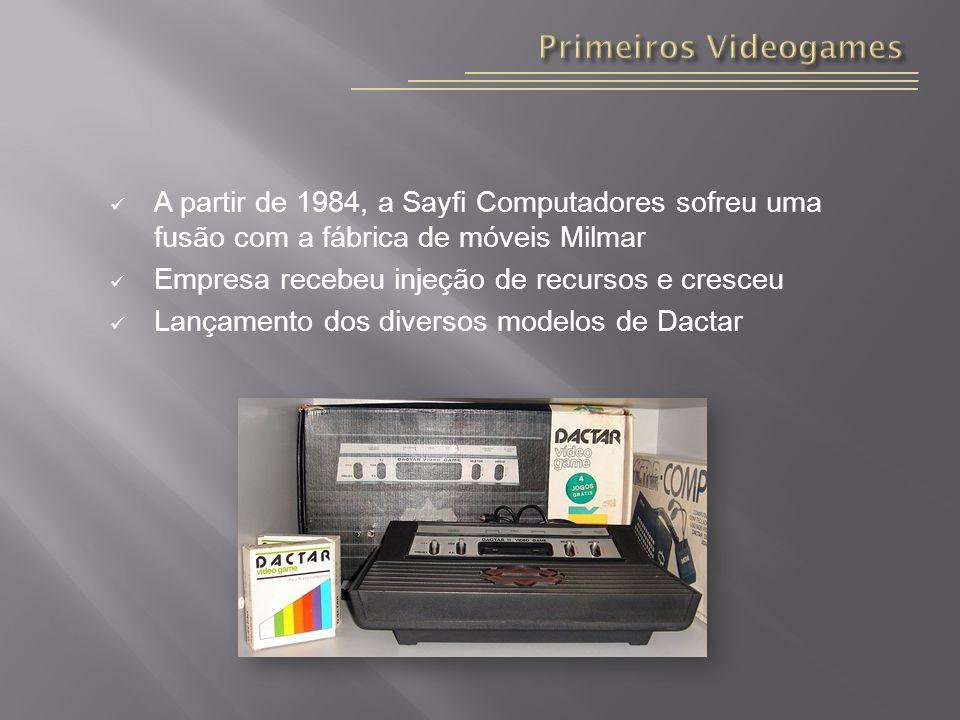 Primeiros Videogames A partir de 1984, a Sayfi Computadores sofreu uma fusão com a fábrica de móveis Milmar.