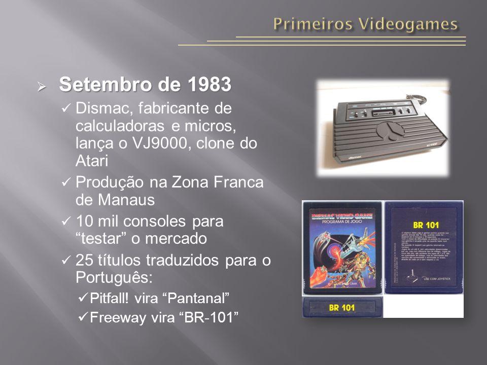 Setembro de 1983 Primeiros Videogames