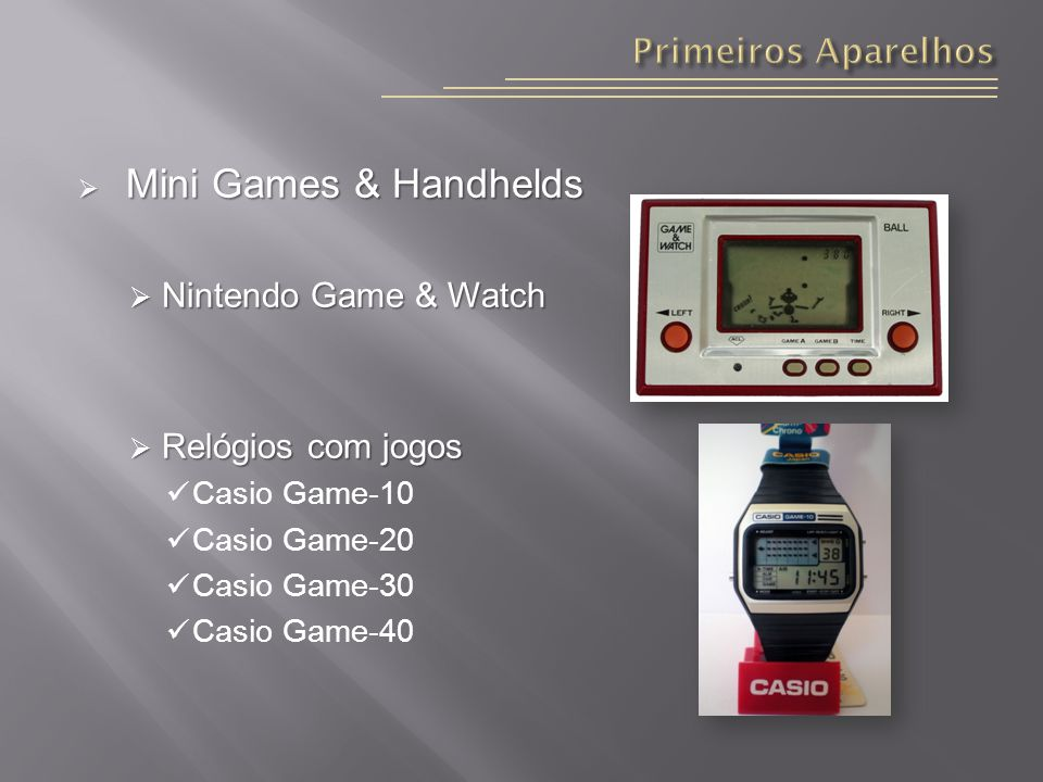 Mini Games & Handhelds Primeiros Aparelhos Nintendo Game & Watch