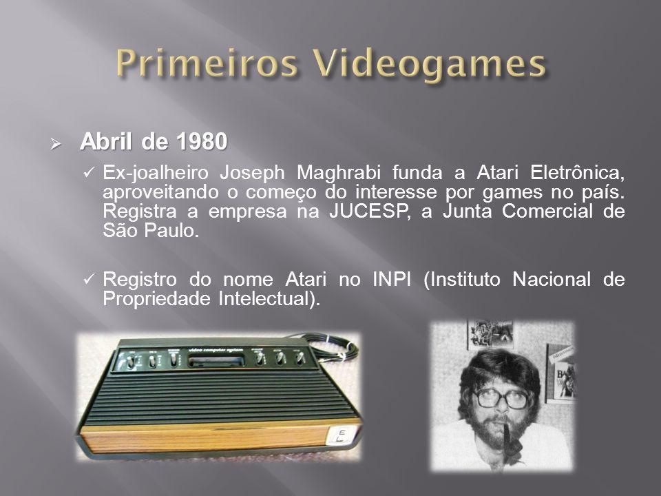 Primeiros Videogames Abril de 1980