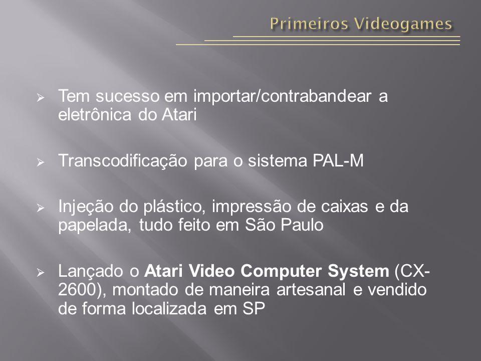Tem sucesso em importar/contrabandear a eletrônica do Atari