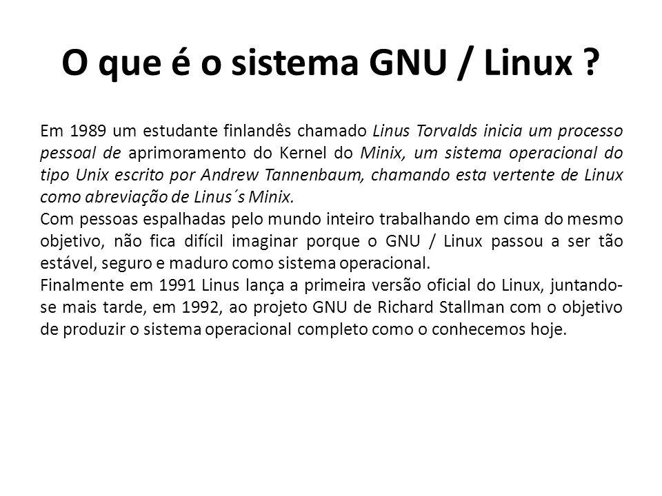 O que é o sistema GNU / Linux