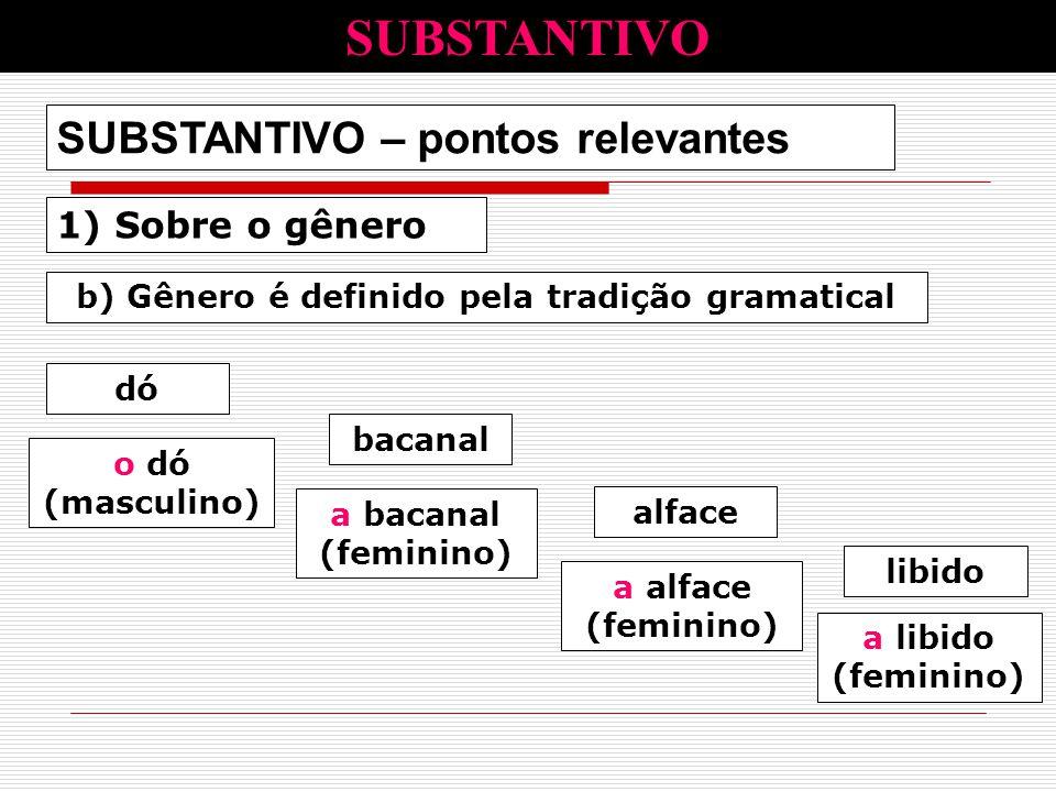 b) Gênero é definido pela tradição gramatical