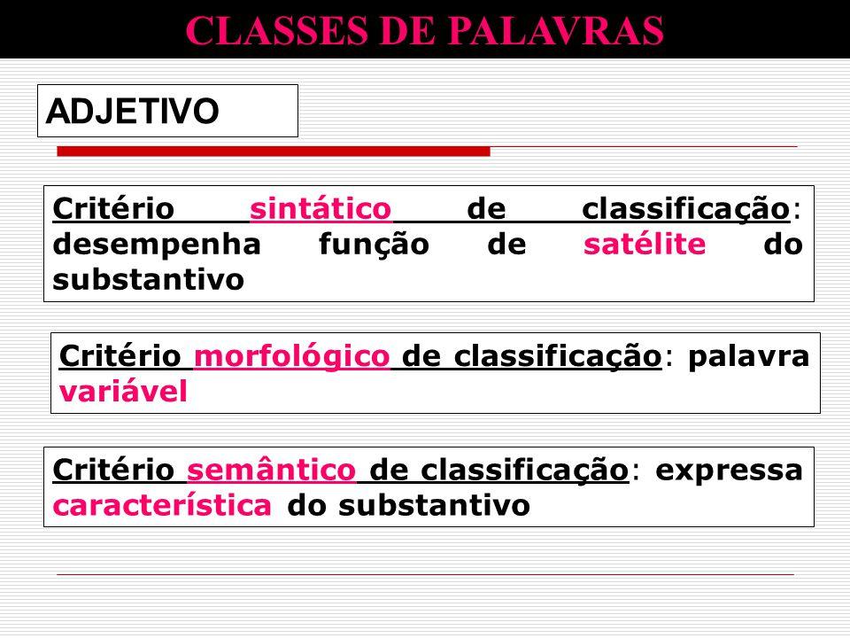 CLASSES DE PALAVRAS ADJETIVO