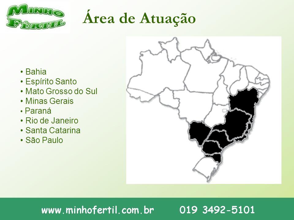 Área de Atuação • Bahia • Espírito Santo • Mato Grosso do Sul