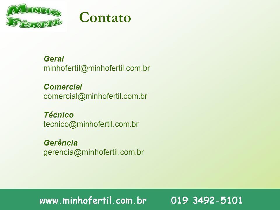 Contato Geral minhofertil@minhofertil.com.br Comercial