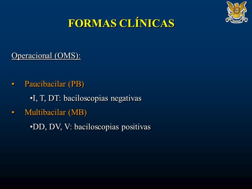 FORMAS CLÍNICAS Operacional (OMS): Paucibacilar (PB)