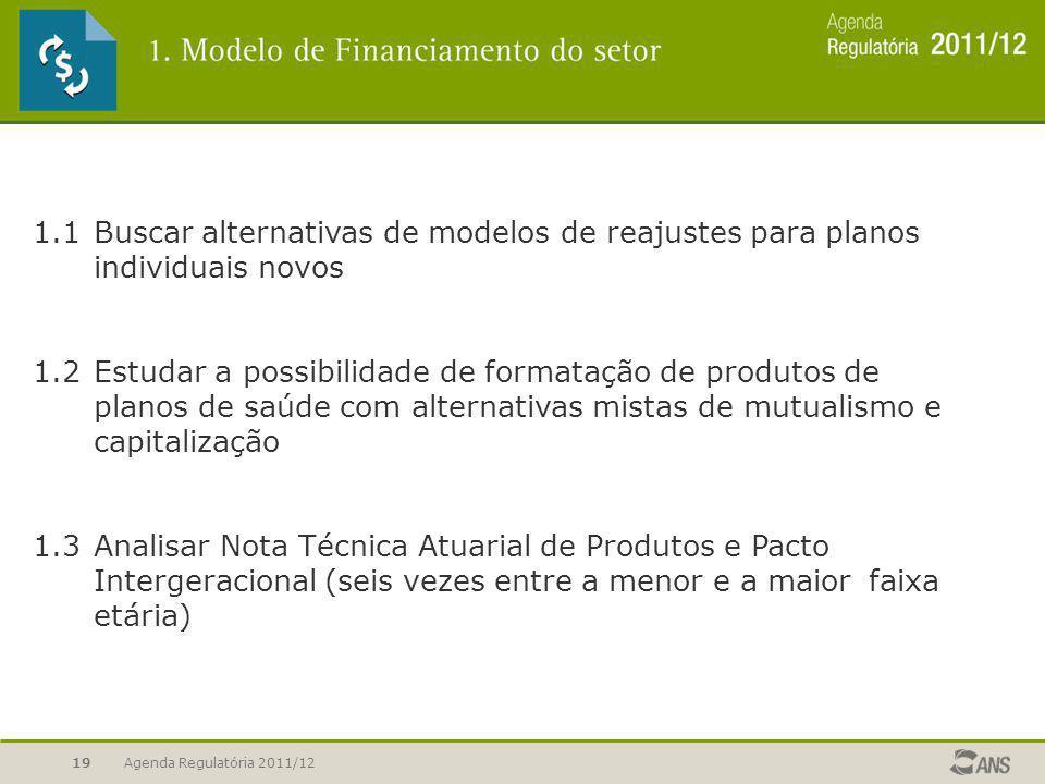 1. 1. Buscar alternativas de modelos de reajustes para planos