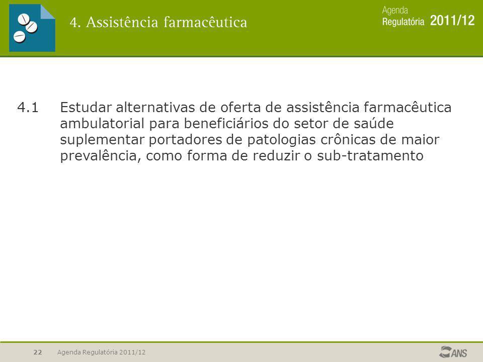 4. 1. Estudar alternativas de oferta de assistência farmacêutica