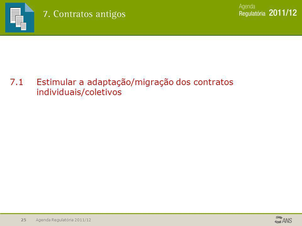 7.1 Estimular a adaptação/migração dos contratos individuais/coletivos