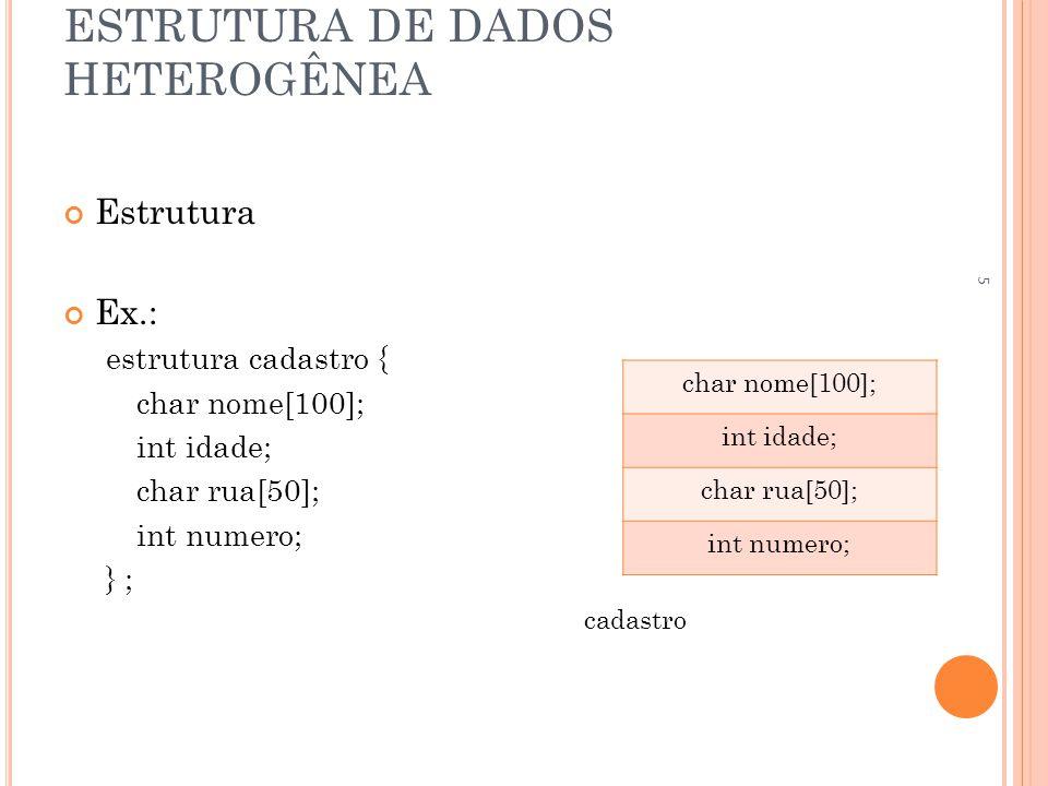 ESTRUTURA DE DADOS HETEROGÊNEA