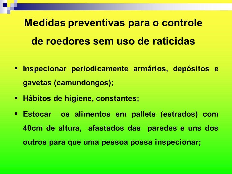 Medidas preventivas para o controle de roedores sem uso de raticidas