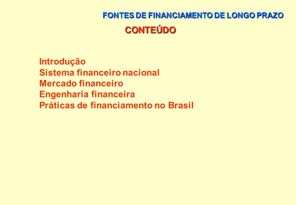 Sistema financeiro nacional Mercado financeiro Engenharia financeira