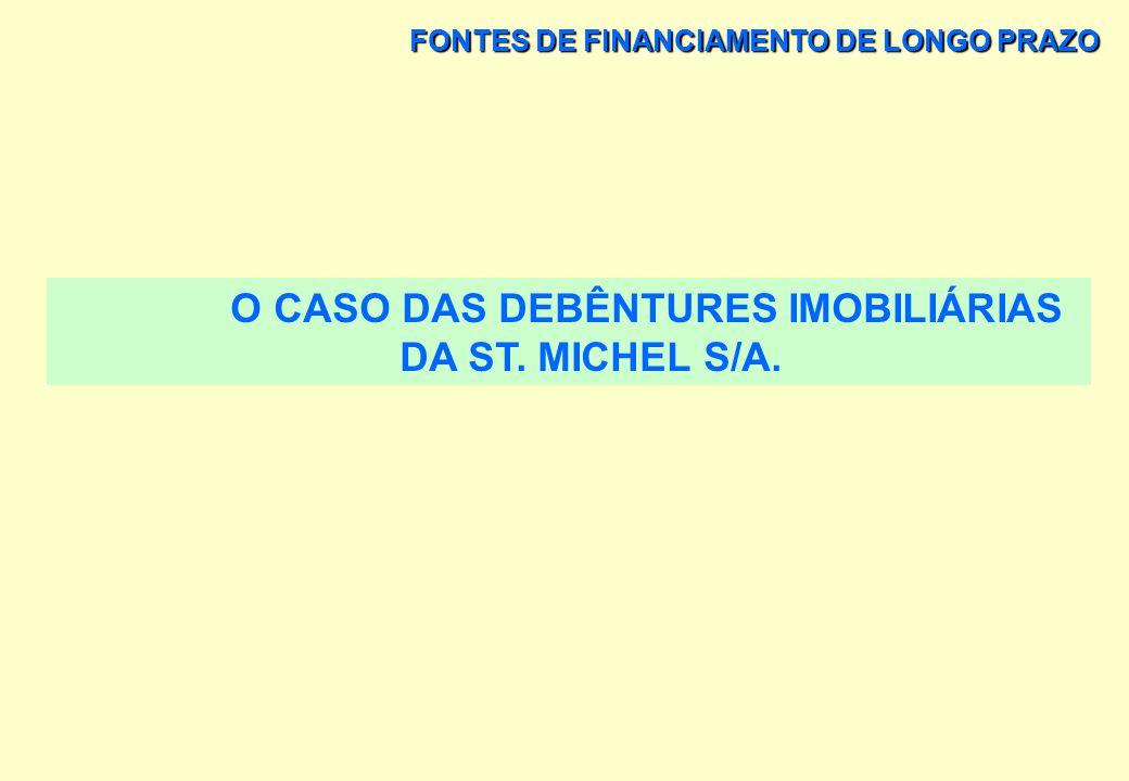 O CASO DAS DEBÊNTURES IMOBILIÁRIAS DA ST. MICHEL S/A.