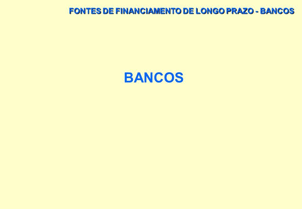 FONTES DE FINANCIAMENTO DE LONGO PRAZO - BANCOS