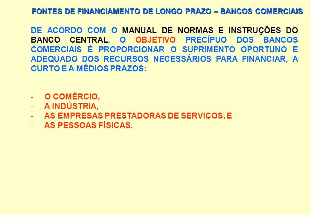 AS EMPRESAS PRESTADORAS DE SERVIÇOS, E AS PESSOAS FÍSICAS.