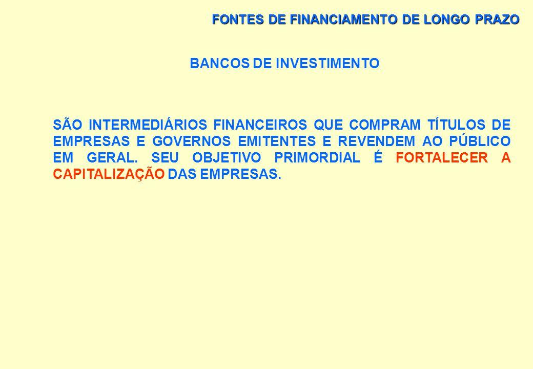BANCOS DE INVESTIMENTO