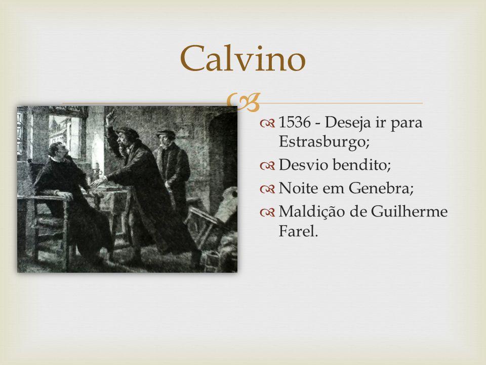 Calvino 1536 - Deseja ir para Estrasburgo; Desvio bendito;