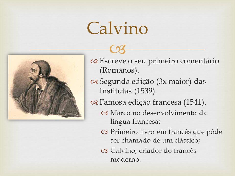 Calvino Escreve o seu primeiro comentário (Romanos).