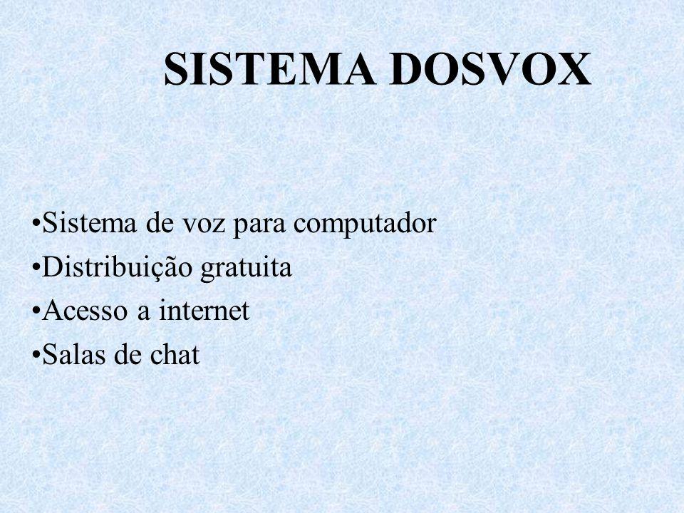 SISTEMA DOSVOX Sistema de voz para computador Distribuição gratuita