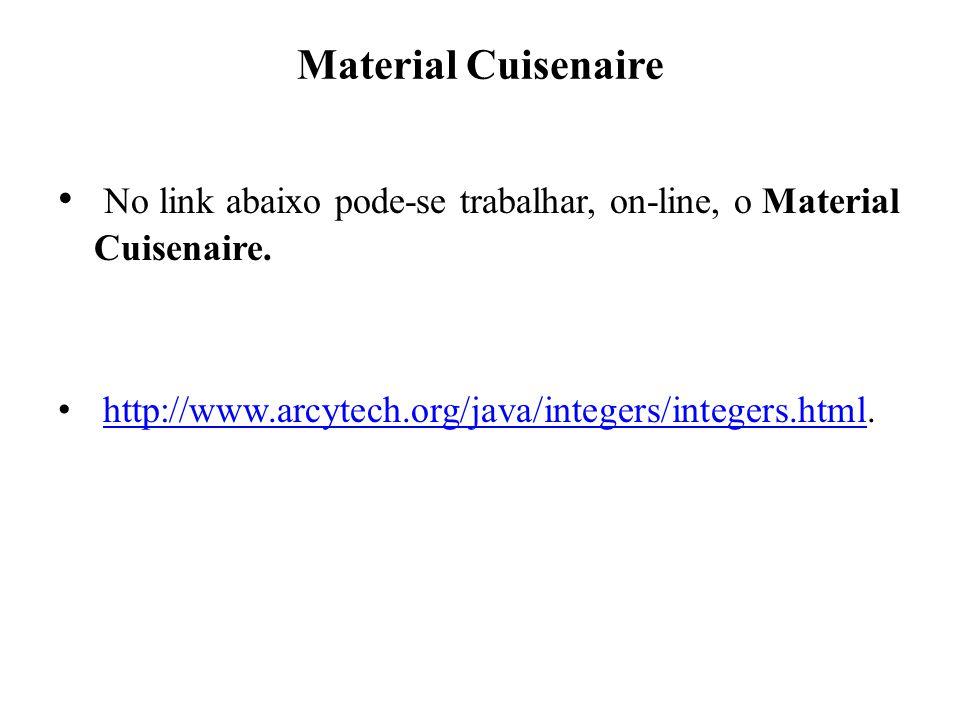 No link abaixo pode-se trabalhar, on-line, o Material Cuisenaire.