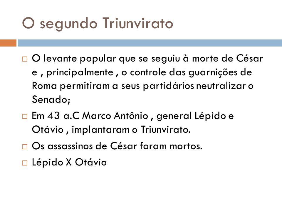O segundo Triunvirato
