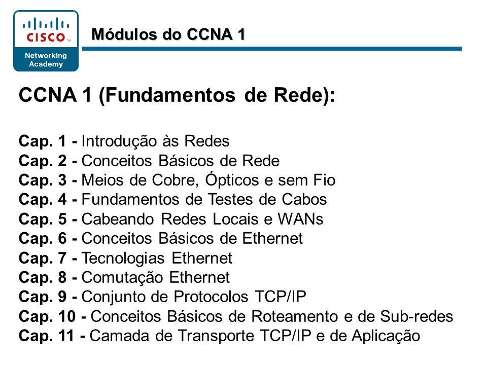 CCNA 1 (Fundamentos de Rede):