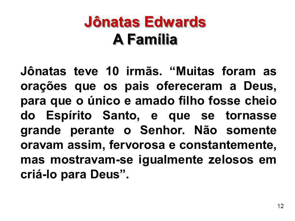 Jônatas Edwards A Família