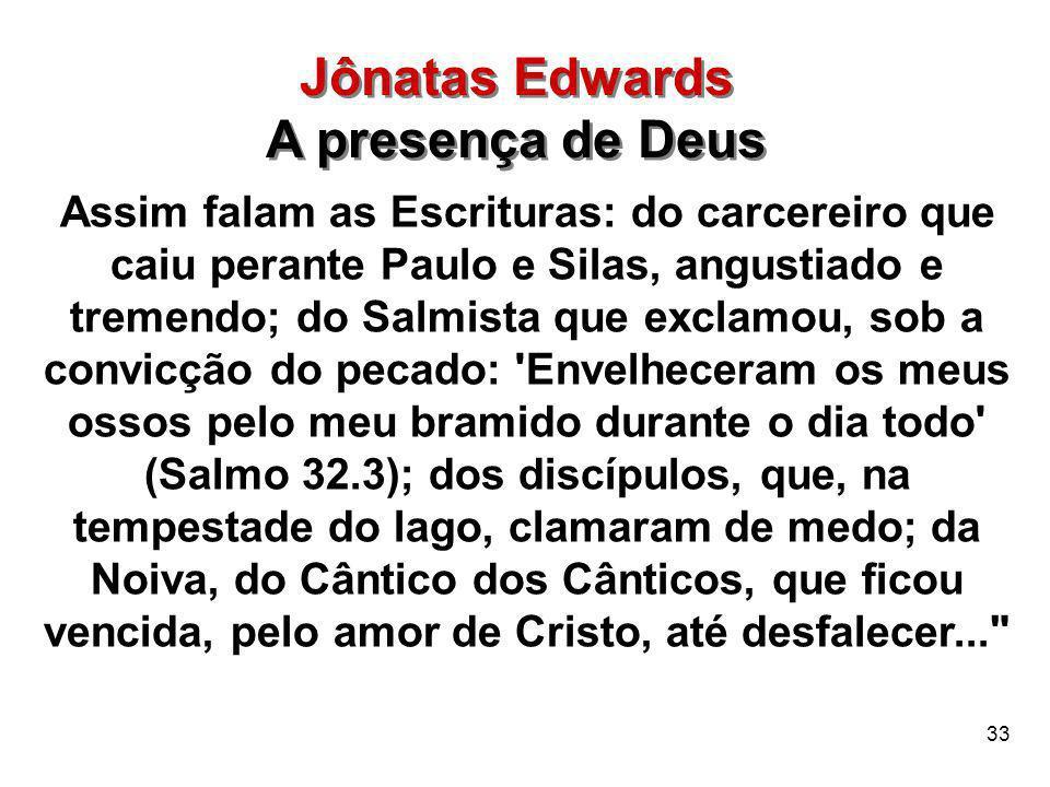 Jônatas Edwards A presença de Deus