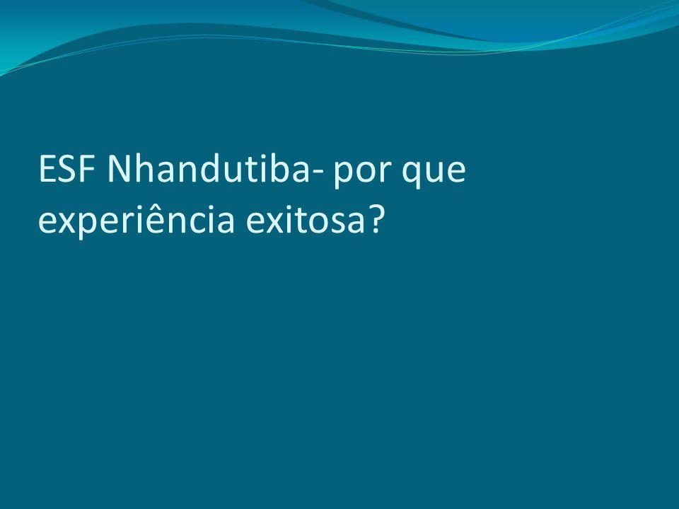 ESF Nhandutiba- por que experiência exitosa