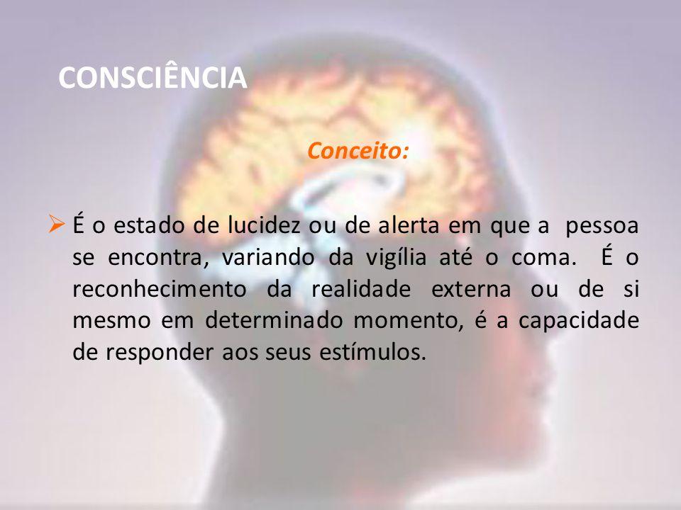 CONSCIÊNCIA Conceito: