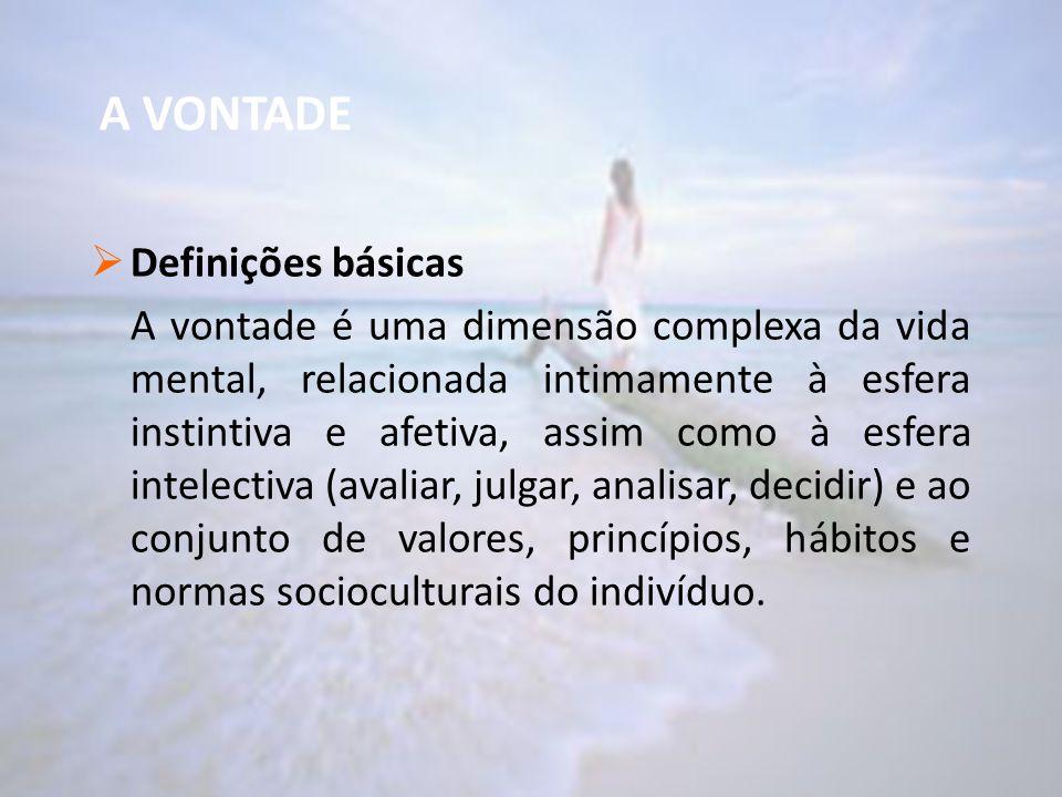 A VONTADE Definições básicas